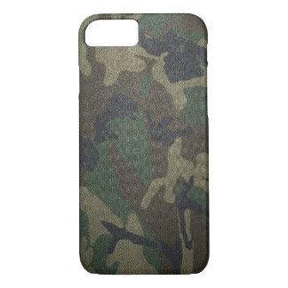 Woodland Camo Fabric iPhone 7 Case