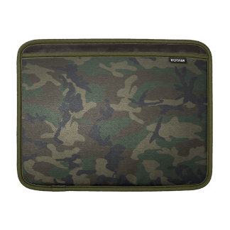 Woodland Camo Fabric MacBook Sleeve