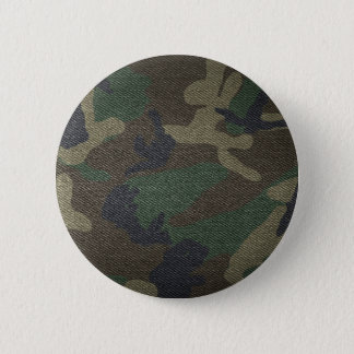 Woodland Camo Fabric Pinback Button