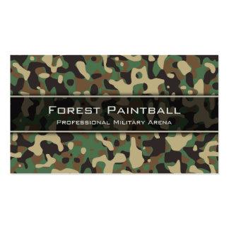 Woodland Camo, Flecktarn Camouflage Business Card