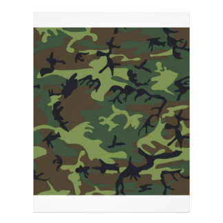 Woodland Camo Personalized Flyer