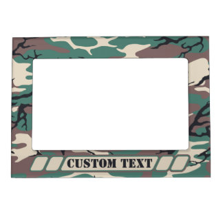 woodland camo frame with custom title