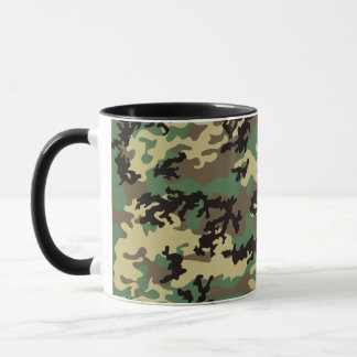 Woodland Camo Glass Mug
