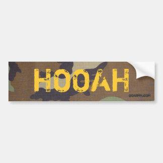 woodland camo, HOOAH, GOARMY.com Car Bumper Sticker