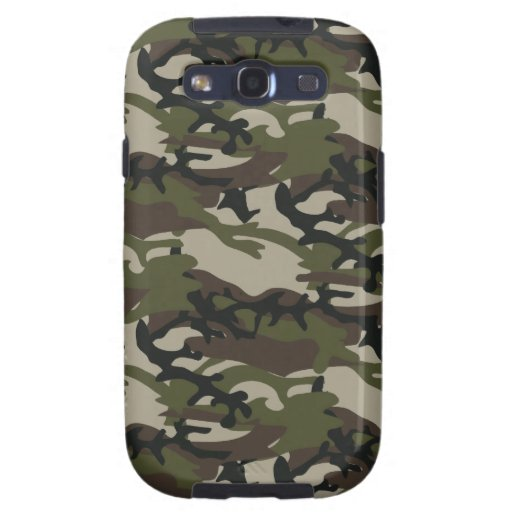 Woodland Camo Military Galaxy S3 case
