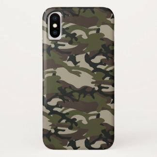 Woodland Camo Military iPhone X Case