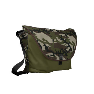 Woodland Camo Military Pattern Messenger Bag