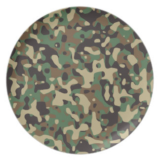 Woodland Camo Party Plate