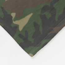 Woodland Camo Pattern Fleece Blanket
