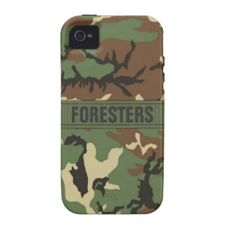 Woodland Camo Personalized Vibe iPhone 4 Covers