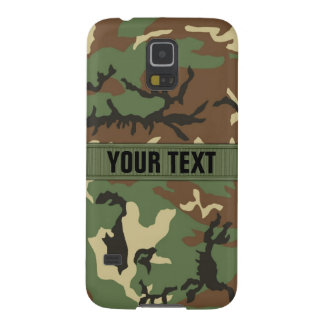Woodland Camo Personalized Galaxy S5 Covers