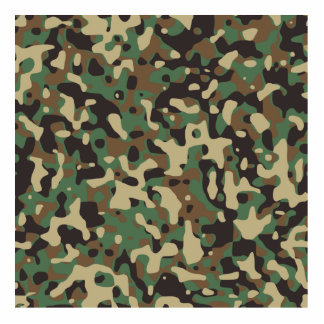 Woodland Camo Acrylic Cut Outs