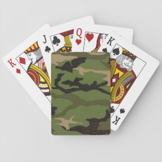 Woodland Camo Playing Cards