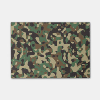 Woodland Camo Post-it® Notes