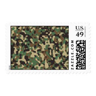 Woodland Camo Postage Stamp