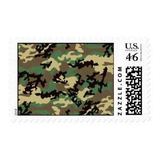 Woodland Camo Postage Stamps