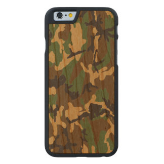 Woodland Camo Real Wood Case Carved® Cherry iPhone 6 Slim Case
