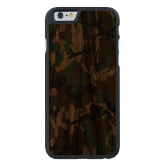 Woodland Camo Real Wood Case Carved® Walnut iPhone 6 Case