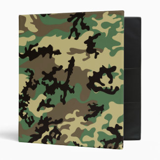 Woodland Camo School Binder