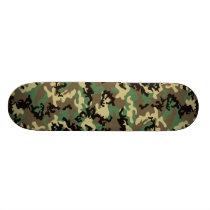 Woodland Camo Skateboard