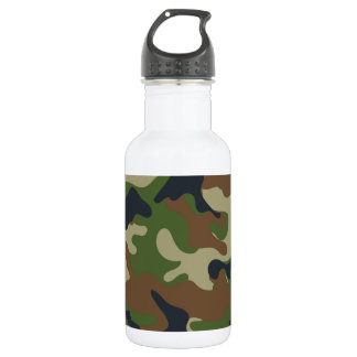 Woodland Camo Stainless Steel Water Bottle