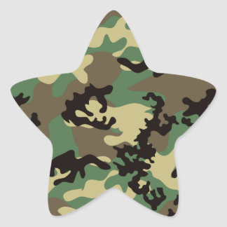 Woodland Camo Stickers