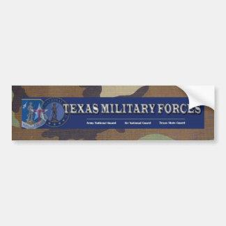 woodland camo, texas military forces car bumper sticker