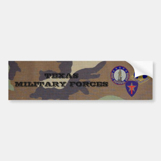 woodland camo, TX military forces Bumper Sticker