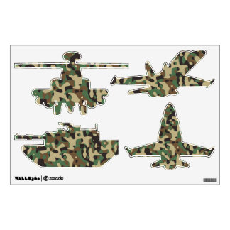 Woodland Camo Wall Decal