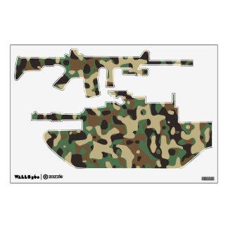 Woodland Camo Wall Sticker