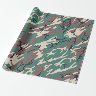 camo wrapping paper