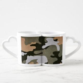 Woodland Camouflage 01 Couples Coffee Mug