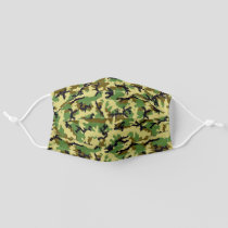 Woodland Camouflage Adult Cloth Face Mask