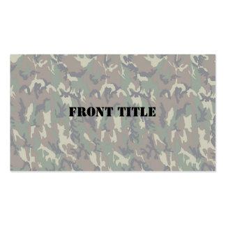 Woodland Camouflage Background Lightened Business Card