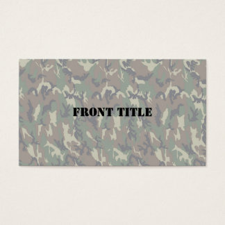 Woodland Camouflage Background Lightened Business Card