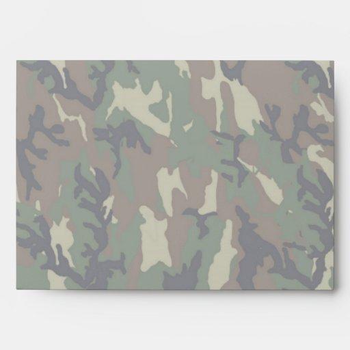 Woodland Camouflage Background Lightened Envelope