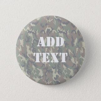 Woodland Camouflage Background Lightened Pinback Button