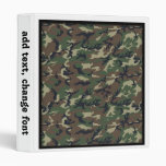 Woodland Camouflage Background Template 3 Ring Binders