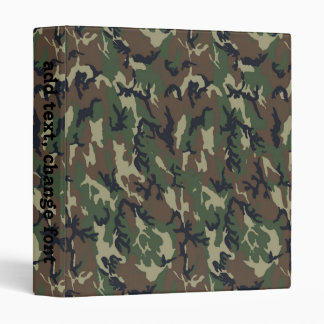 Woodland Camouflage Background Template Binder