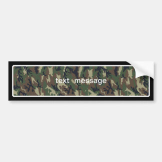 Woodland Camouflage Background Template Bumper Sticker