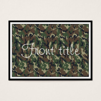 Woodland Camouflage Background Template Business Card