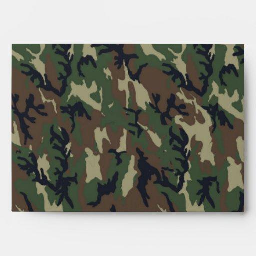 Woodland Camouflage Background Template Envelope