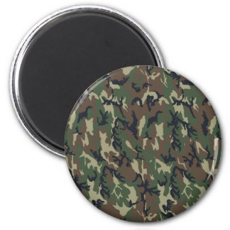 Woodland Camouflage Background Template Magnet