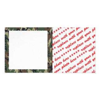 Woodland Camouflage Background Template Custom Photo Card
