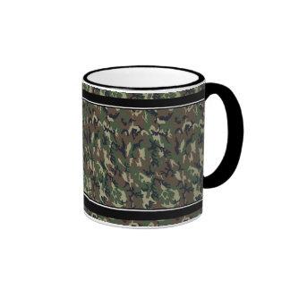 Woodland Camouflage Background Template Coffee Mugs