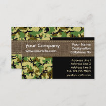 Woodland camouflage business card