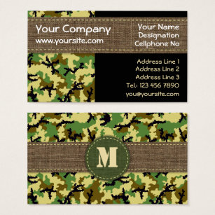 Camouflage business cards templates zazzle woodland camouflage business card colourmoves