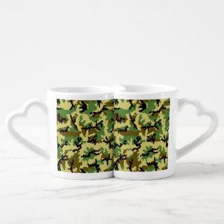 Woodland camouflage coffee mug set