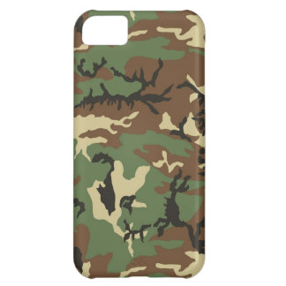 Woodland Camouflage Cover For iPhone 5C