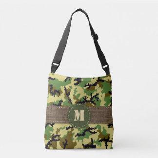 Woodland camouflage crossbody bag